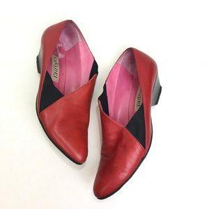 Casadei Leather Elastic Cutout Shoes